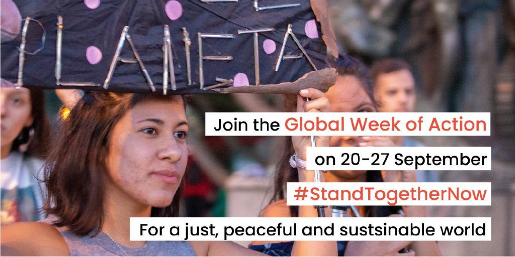 Global Week of Action Banner